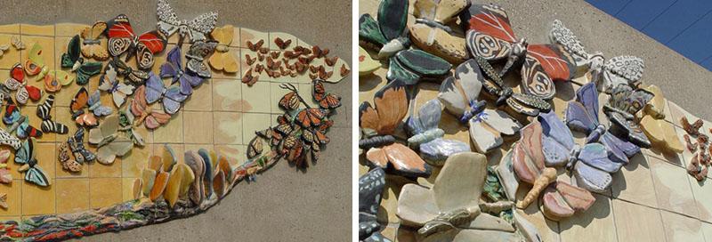Butterfly-mural-sculpture