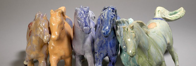 Horses-ceramic-sculpture